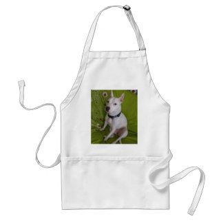 Weißer Personal-Hund Schürze
