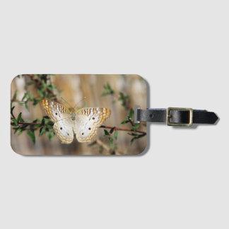 Weißer Pfau-Schmetterlings-Gepäckanhänger Gepäckanhänger