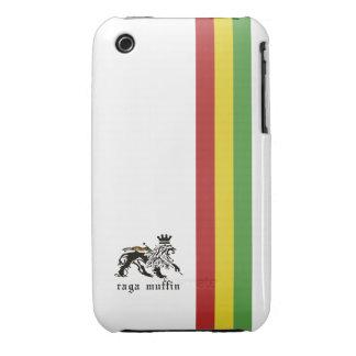 Weißer Rasta Streifen Droid Fall Case-Mate iPhone 3 Hülle