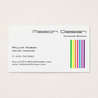 Weißer Regenbogen Stripes Visitenkarte