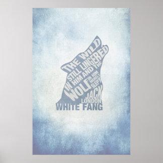 Weißer Reißzahn durch Poster