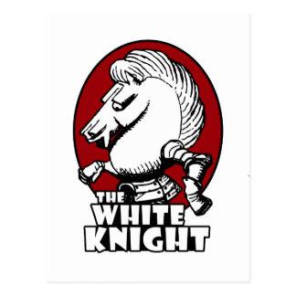 Weißer Ritter-Logo-Rot Postkarte