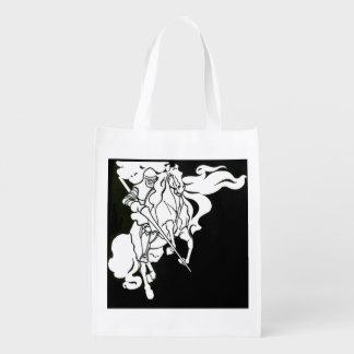 Weißer Ritter Wiederverwendbare Einkaufstasche