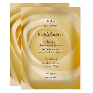 Weißer Rosen-Bonbon 16 Geburtstags-Party Einladung