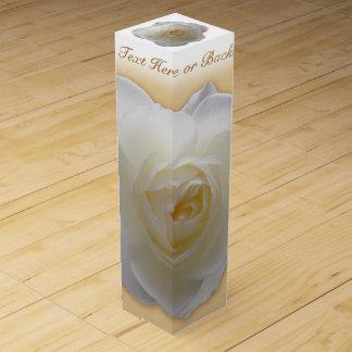 Weißer Rosen-Wein-Kasten-personalisierter Weinbox