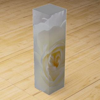 Weißer Rosen-Wein-Kasten personifizieren Wein-Geschenkverpackung