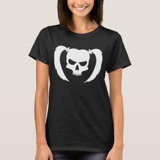 Weißer Schädel mit Zöpfen T-Shirt