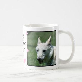 Weißer Schäferhund Kaffeetasse