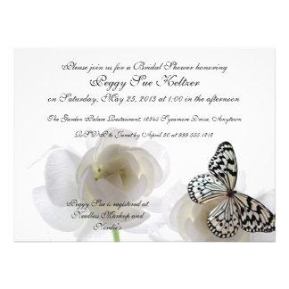 Weißer Schmetterlings-kundenspezifische Individuelle Einladungen