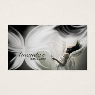 Weißer Schmetterlings-Schönheits-Salon u. Visitenkarte