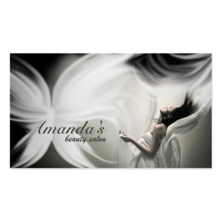 Weißer Schmetterlings-Schönheits-Salon u. Visitenkarten