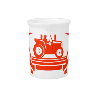 Weißer Schwanz-Rotwild-Geweih-Traktor Retro Getränke Pitcher