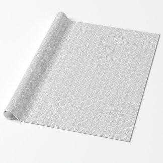 Weißer schwarzer eleganter Damast Geschenkpapier