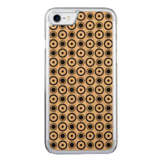 Weißer schwarzer stilvoller Tupfenweißhintergrund Carved iPhone 8/7 Hülle