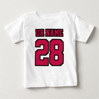 WEISSER SCHWARZES Seitenfußball Crewneck des Baby T-shirt