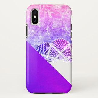 Weißer Spitze-Lavendel-lila moderner Marmor iPhone X Hülle