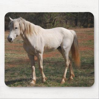 Weißer Stallion Mauspads