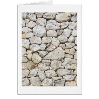 Weißer Stein Grußkarte