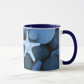 Weißer Stern der Kiesel Tasse