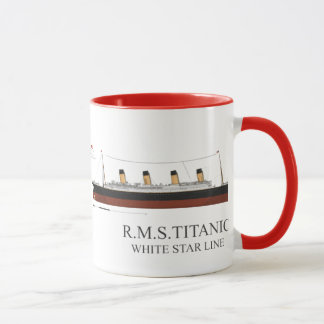 weißer Stern titanisch Tasse