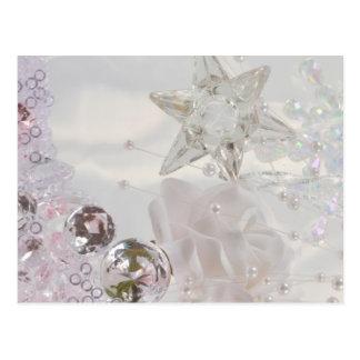 """""""Weißer Stern und Kristalle """" Postkarte"""
