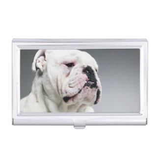 Weißer Stier-Hund Visitenkarten Etui