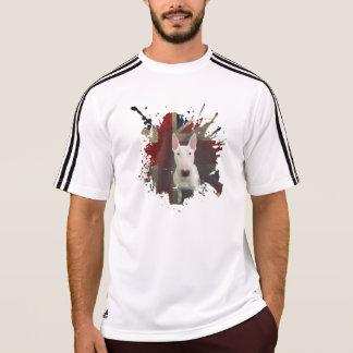 Weißer Stier-Terrier-mutiger