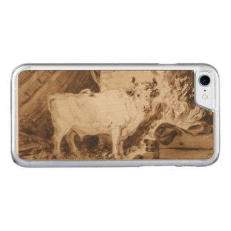 Weißer Stier und Hund in einem Stall durch Carved iPhone 8/7 Hülle