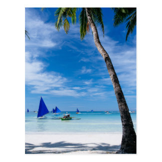 Weißer Strand | Boracay, Philippinen Postkarte