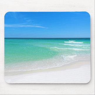 Weißer Strand Mauspad