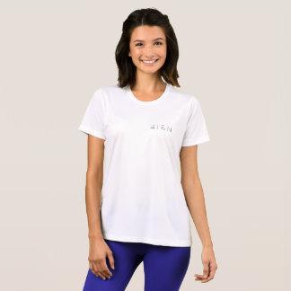 weißer T - Shirt der Sport-Tek der Frauen 4TEN