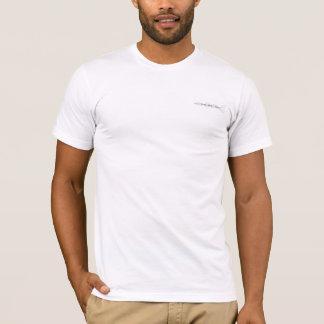Weißer T - Shirt mit schwarzes Loch-Studiologo