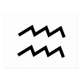 Weißer Tierkreis des Wassermann-2 am 20. Januar - Postkarte