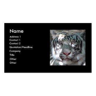 Weißer Tiger bengalisch Visitenkarten