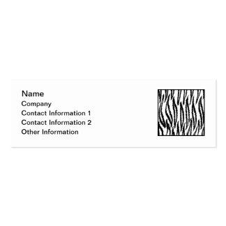 Weißer Tiger-Druck. Tiger-Muster Mini-Visitenkarten