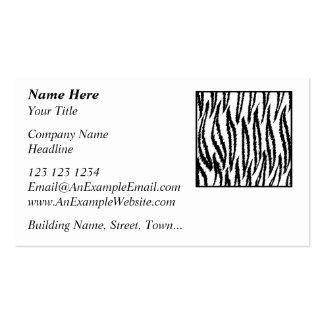 Weißer Tiger-Druck. Tiger-Muster Visitenkarten