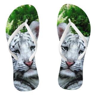 Weißer Tiger Flip Flops
