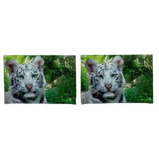 Weißer Tiger Kissenbezug
