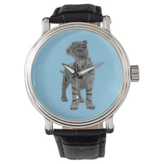 Weißer Tiger Uhr