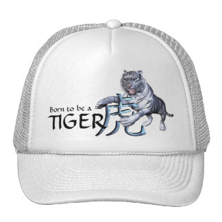 Weißer Tiger und chinesisches Symbol Baseball Cap