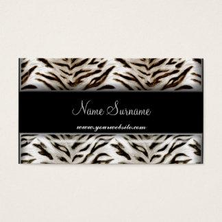 Weißer Tiger und schwarze Visitenkarte