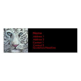 weißer Tiger, Visitenkarte