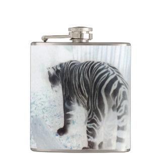 Weißer Tiger-wildes Tier Flachmann