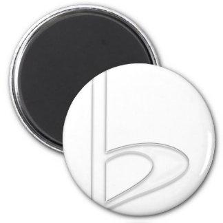 Weißer transparenter Hintergrund des Buchstabe-b Runder Magnet 5,7 Cm
