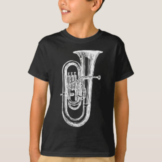 Weißer Tuba T-Shirt