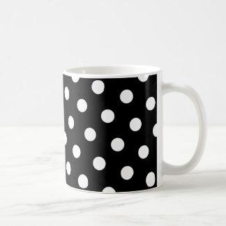 Weißer Tupfen Kaffeetasse