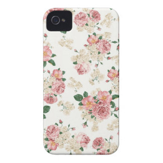 Weißer u. rosa Vintager BlumeniPhone 4/4S Kasten iPhone 4 Etuis