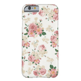 Weißer u. rosa Vintager BlumeniPhone 6 Kasten Barely There iPhone 6 Hülle
