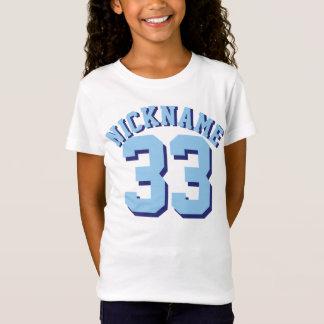 Weißer u. Sport-Jersey-Entwurf der Blau-Kind  T-Shirt