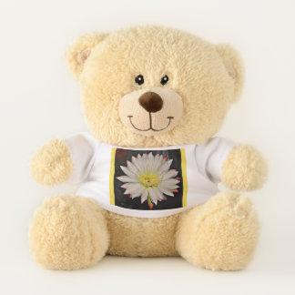 Weißer und gelber Kaktus-Blüten-Teddybär Teddybär